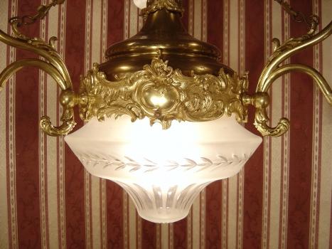 Kronleuchter Lampe ~ Sac a perle 7 fl. patriarchalischer kronleuchter lampe antik
