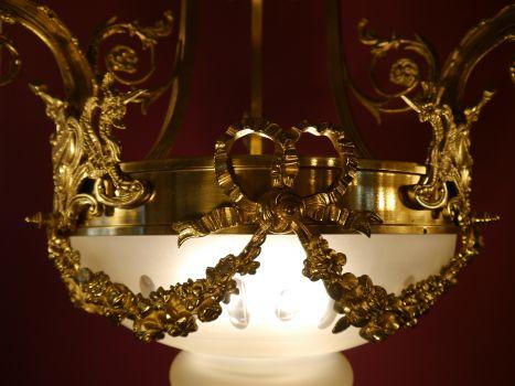 Kronleuchter Jugendstil ~ Sac a perle fl jugendstil leuchter messing glänzend