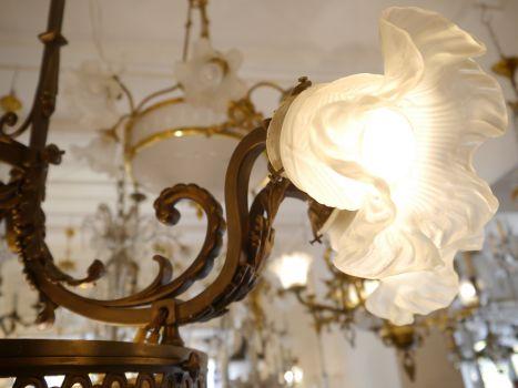 Antike Lampen Kronleuchter ~ Sac a perle große antike bronze lampe kronleuchter alabasterschale