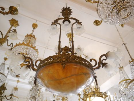 Kronleuchter Antik Bronze ~ Sac a perle große antike bronze lampe kronleuchter