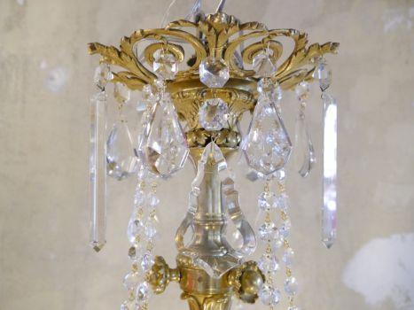 Kleiner Kronleuchter Weiß ~ Sac a perle wunderschöne antike gaslampe kronleuchter