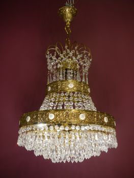 crystal brass chandelier - shipping not possible