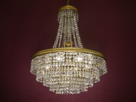 stylish stepped chandelier strass crystal