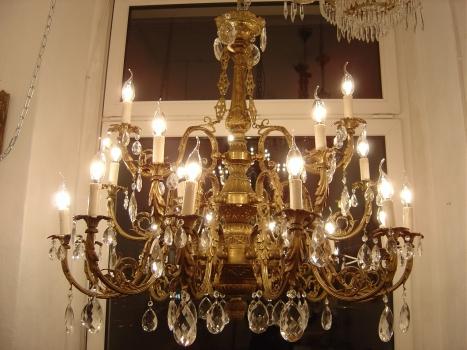 Kronleuchter Alt ~ Kronleuchter barock jugendstil lampe messing: kronleuchter barock in