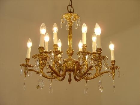 Kronleuchter Klein Kristall ~ Sac a perle schöner goldbronze kronleuchter seltene ornamente