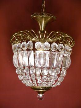 Sac a perle kronleuchter antik ein flammige korb for Kristall lampe