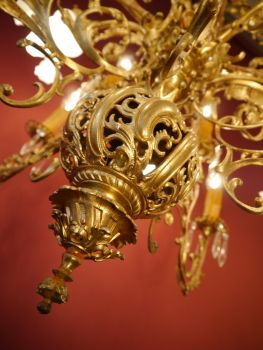 Sac A Perle 10 Fl Messing Kronleuchter Antik Filigran Gestaltet