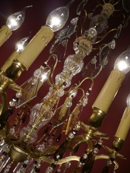 sac a perle kronleuchter antik 8 fl antiker franz sischer kristalll ster nur abholung. Black Bedroom Furniture Sets. Home Design Ideas