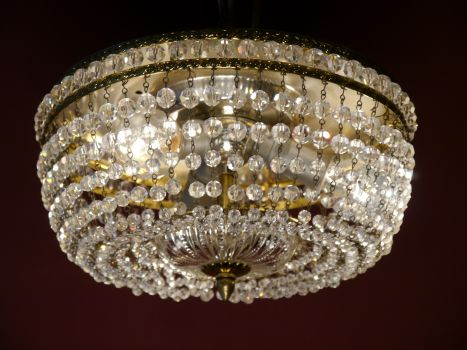 Plafoniere Kristall : Plafoniere kristall groß: sac a perle schöne prächtige messing