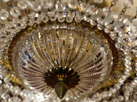 Plafoniere Kristall : Sac a perle schöne prächtige messing plafoniere Ø 25 cm deckenlampe