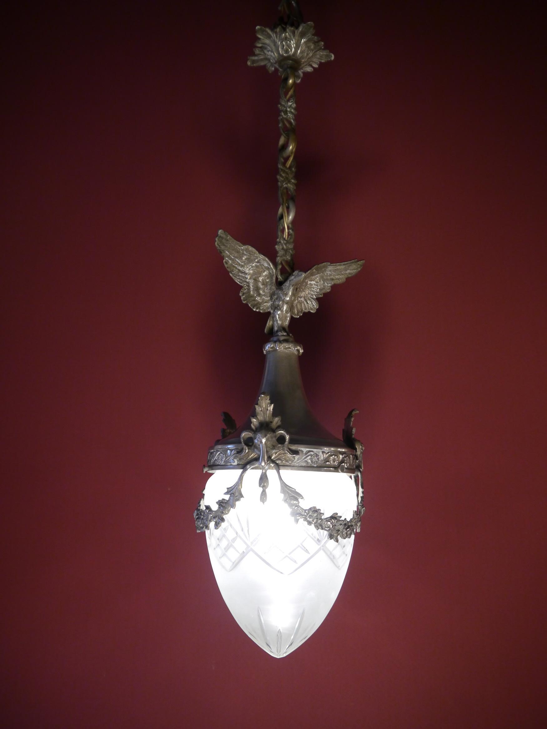 Einflammige Lampe Antik Großer Adler, Sehr Guter Zustand! VERKAUFT