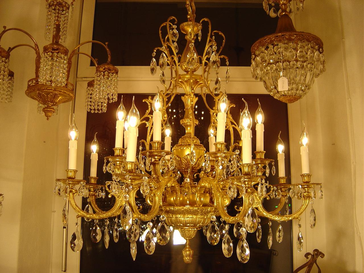 Kronleuchter Gold Kristall ~ Sac a perle fl königlicher kronleuchter goldbronze kristall