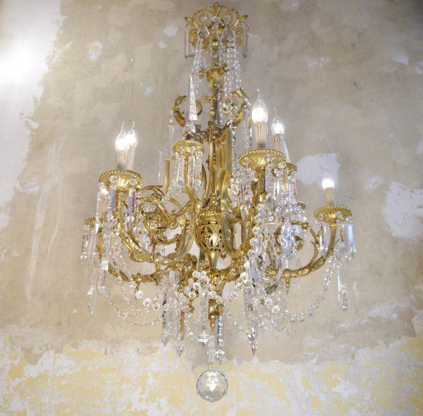Beautiful Antique Gas Lamp Chandelier, Gas Light Style Chandelier