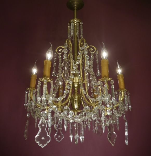 Beautiful Antique Gas Lamp Electrified, How To Hang A Heavy Crystal Chandelier